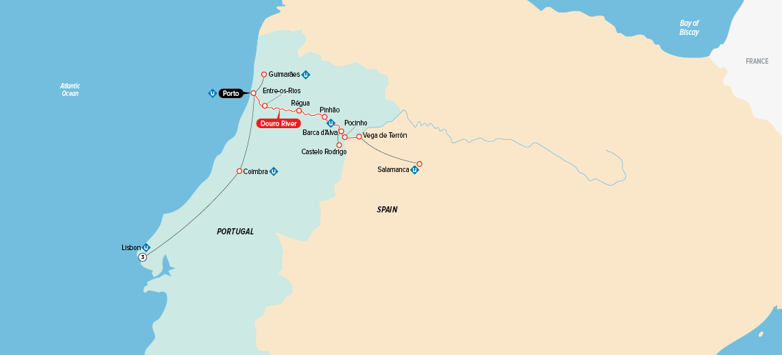 Portugal Spain The Douro Valley Europe River Cruise - Portugal map rivers