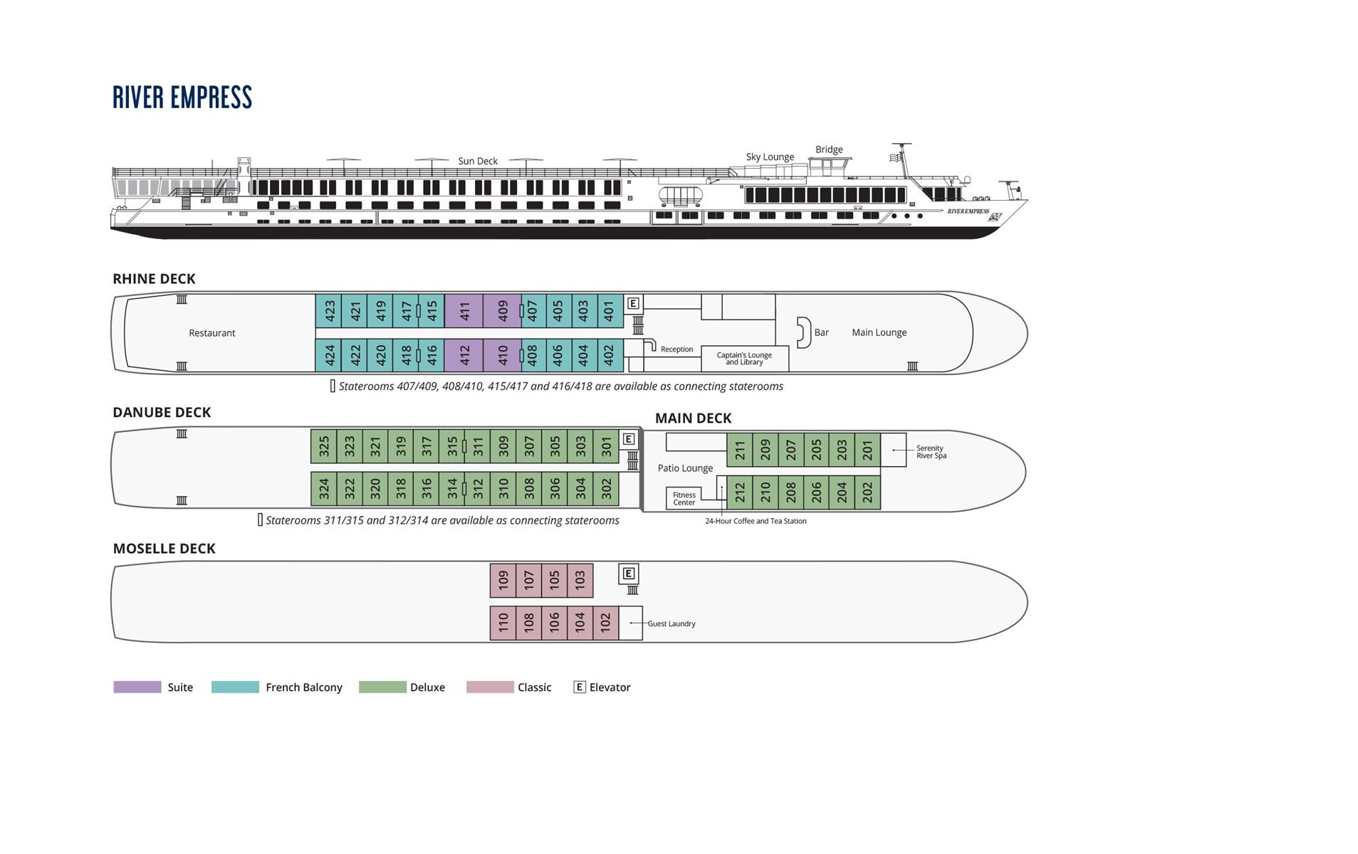 River Empress Deck Plan