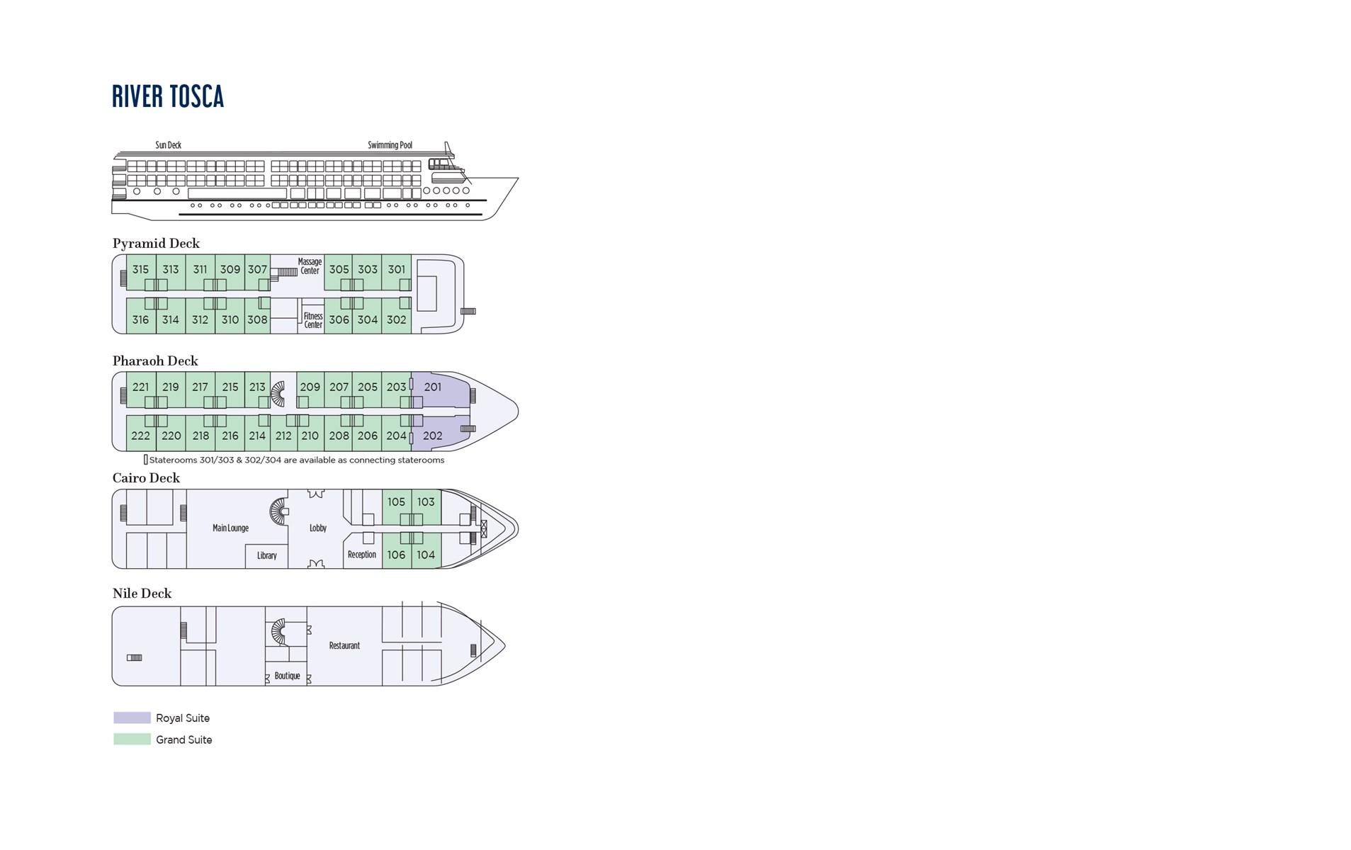 River Tosca Deck Plan