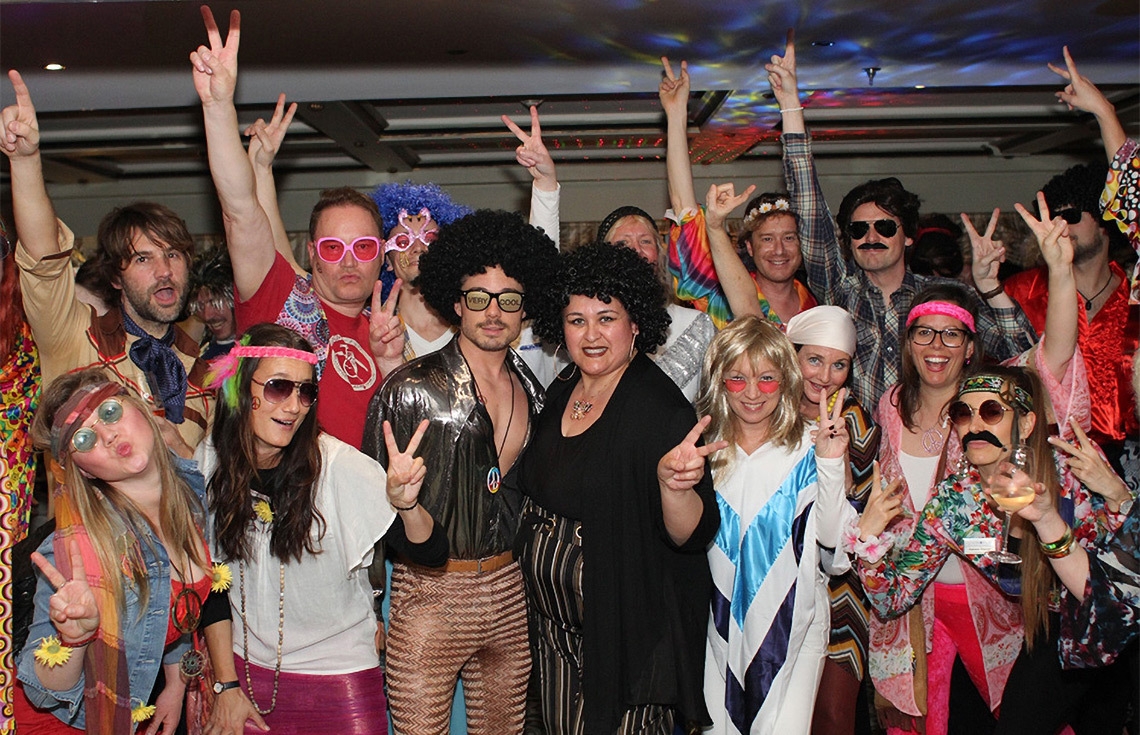 70s-themed party onboard the S.S. Antoinette
