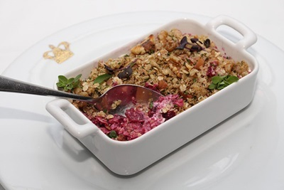 Beetroot and Apple Crumble