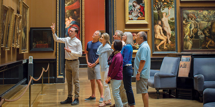 Uniworld guests on museum excursion