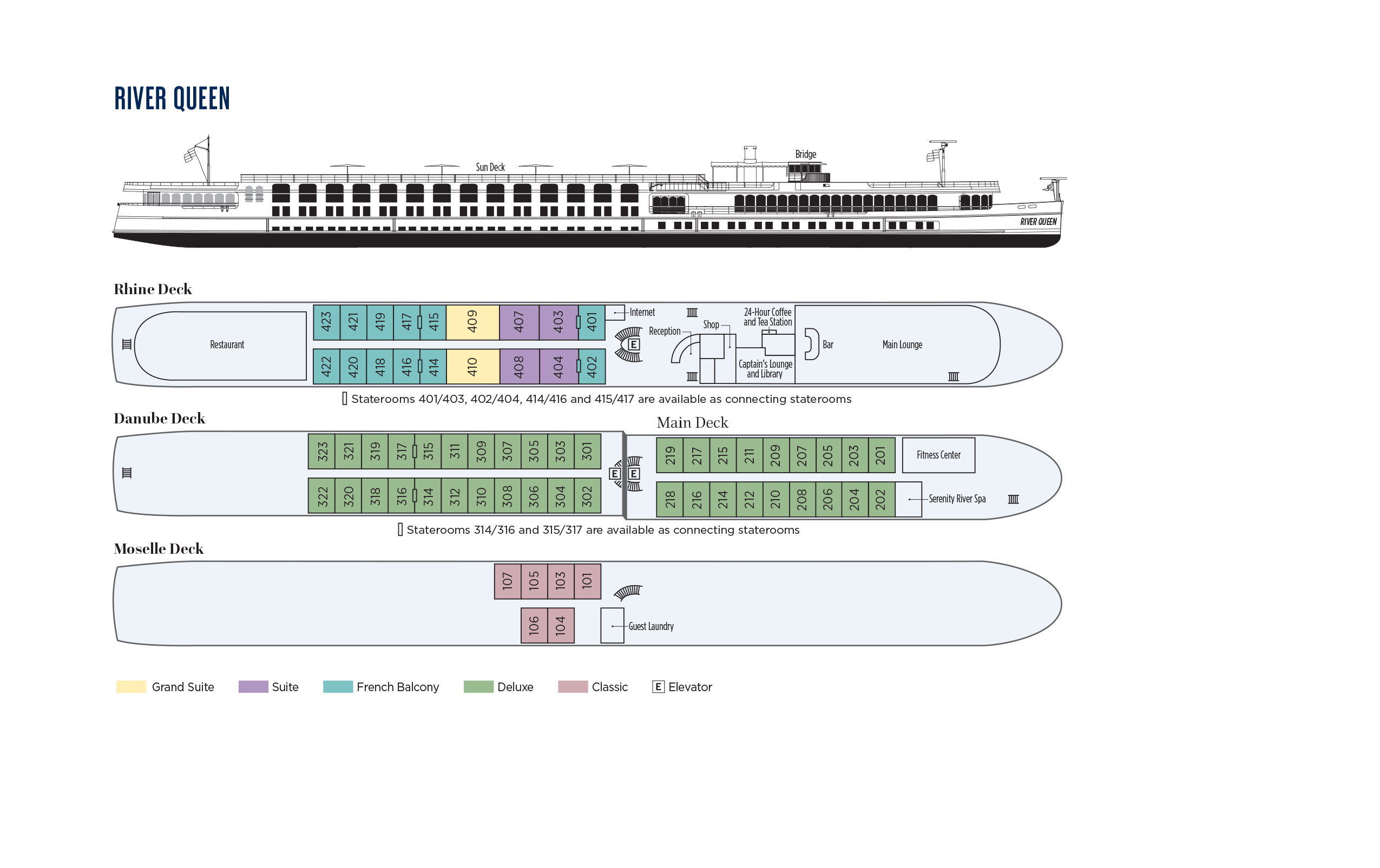 Deck plan (River Queen - 2022)